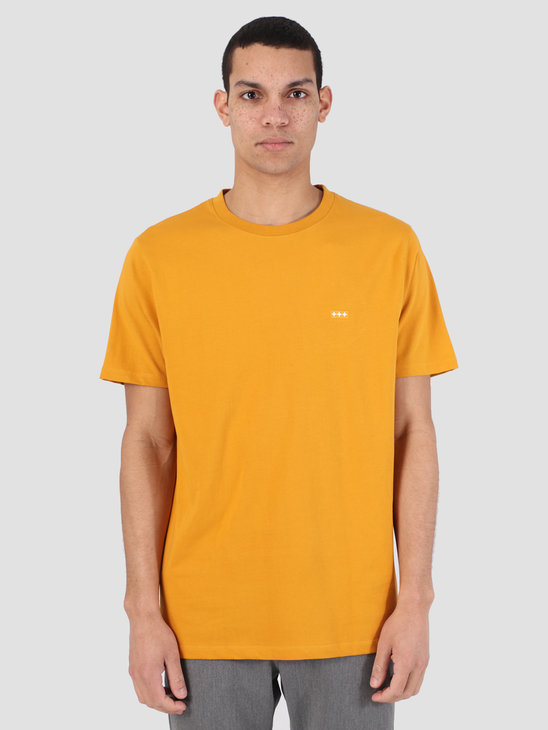 Quality Blanks QB03 Patch Logo T-Shirt Mustard Yellow