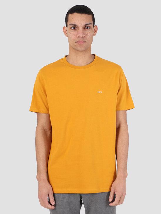 Quality Blanks QB03 Patch Logo T-Shirt Mustard Yellow