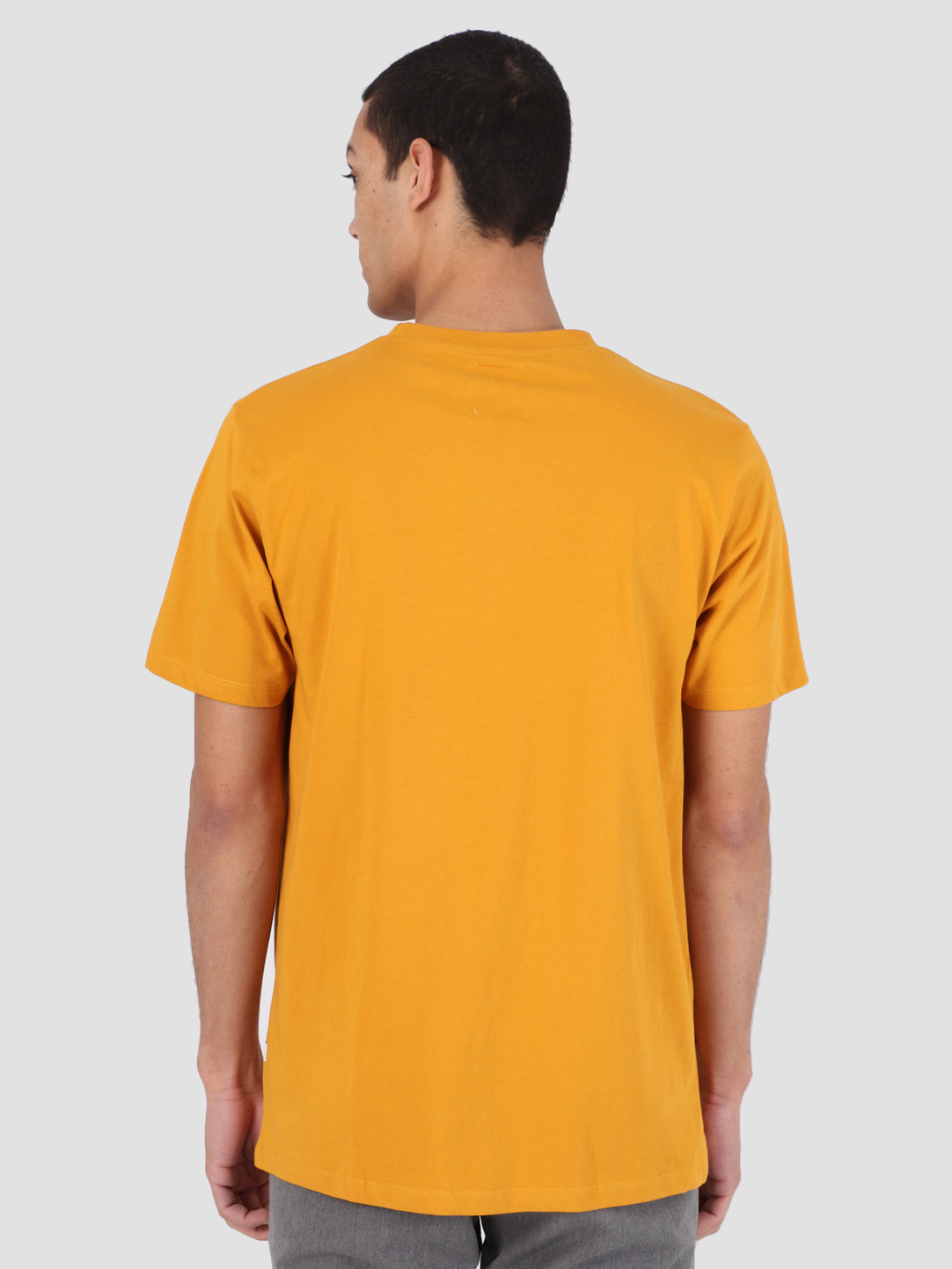 Quality Blanks Quality Blanks QB03 Patch Logo T-Shirt Mustard Yellow