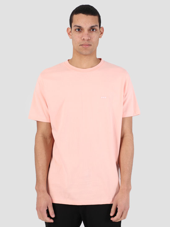 Quality Blanks QB03 Patch Logo T-shirt Peach Melba