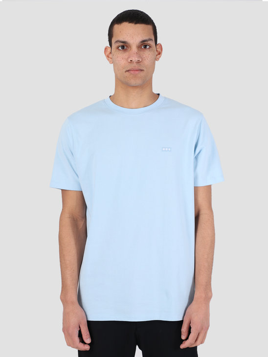 Quality Blanks QB03 Patch Logo T-shirt Sky Blue