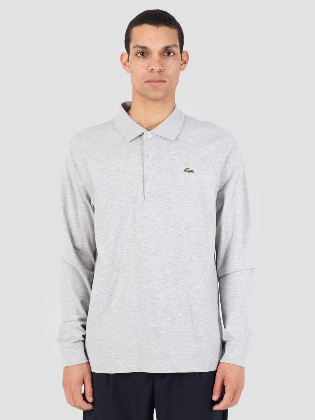 160725dc Lacoste 1HP4 Longsleeve Polo 07A Argent Chine L1330-83 | FRESHCOTTON