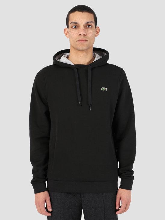 Lacoste 1HS1 Sweatshirt 07A Noir Argent Chine Sh2128-83