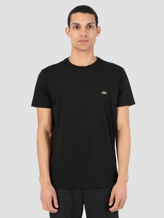 Lacoste 1Ht1 Men'S T-Shirt 011 Black Th6709-91