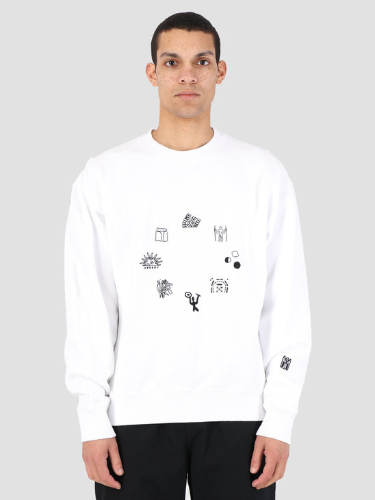 Heresy Emblem Sweater White HSS19-S03