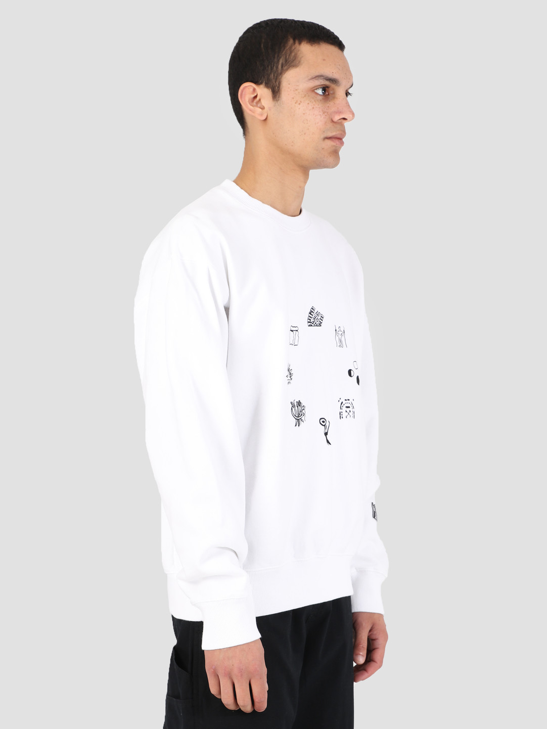Heresy Heresy Emblem Sweater White HSS19-S03