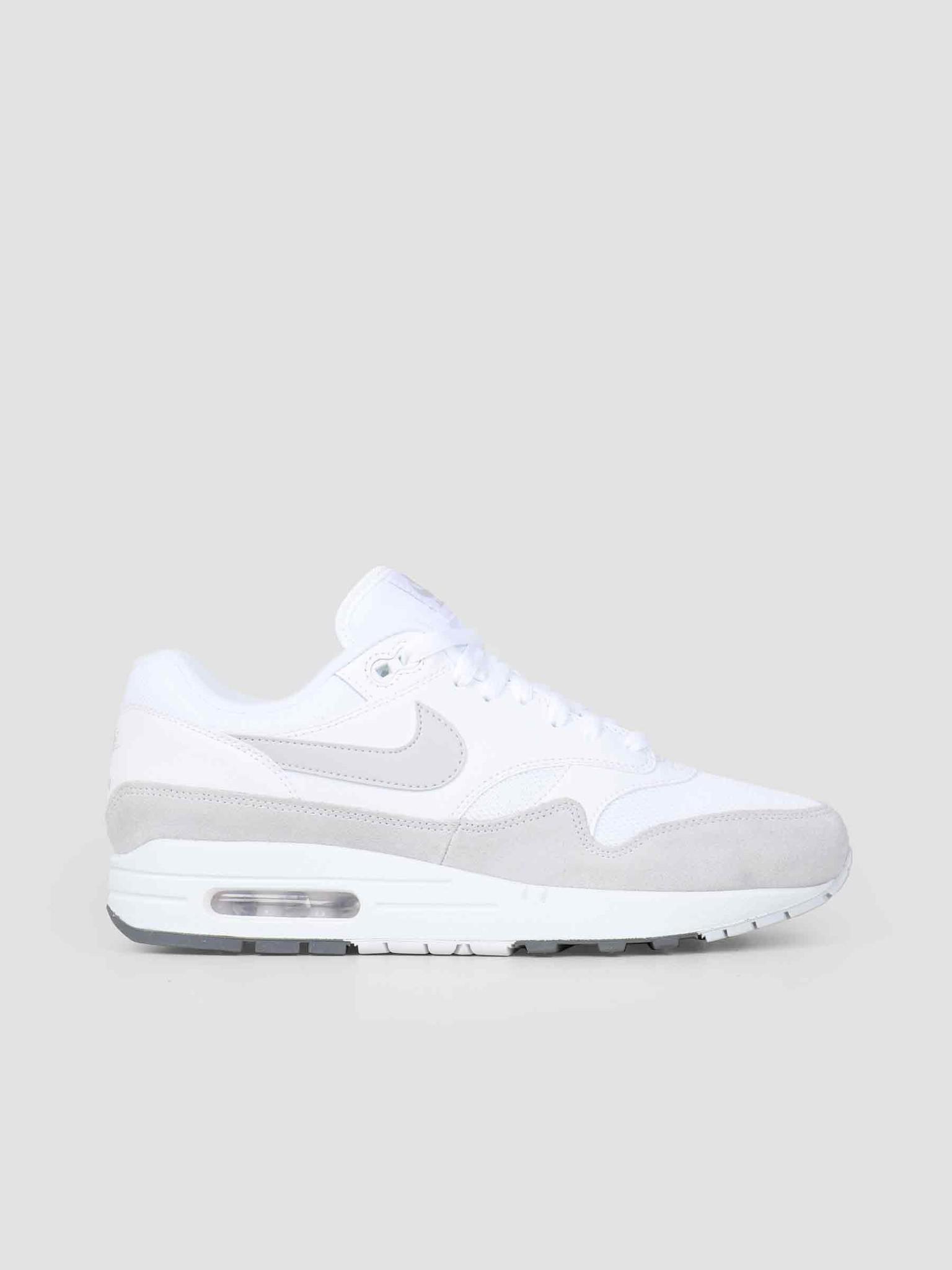 online retailer 8758a a1613 Nike Nike Air Max 1 Shoe White Pure Platinum Cool Grey AH8145-110