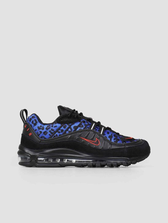 outlet store 3bb7e cfe1b Nike Air Max 98 Premium Black Habanero Red Racer Blue BV1978-001 ...