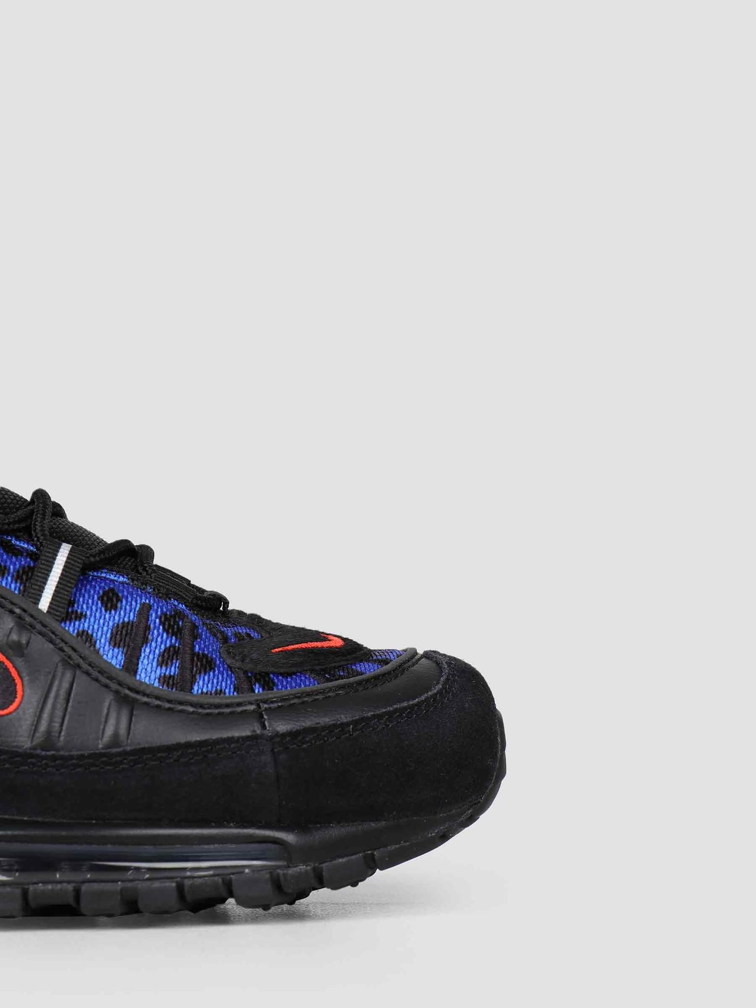 Nike Nike Air Max 98 Premium Black Habanero Red Racer Blue BV1978-001
