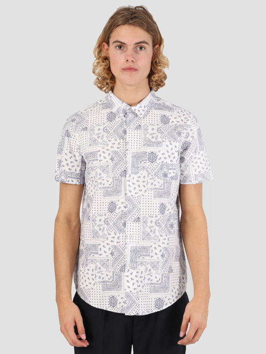 Wemoto Paisly Shirt Off White 131.301-201