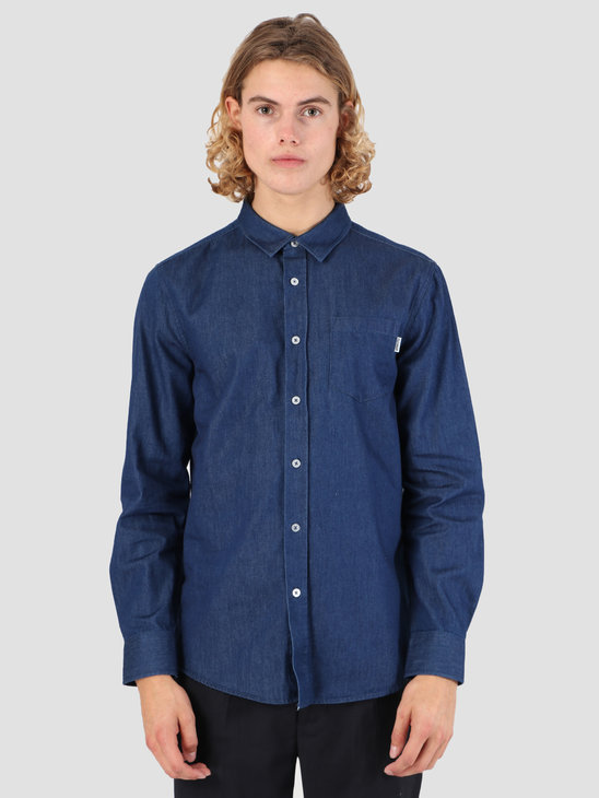 Wemoto Light Shirt Blue Denim 131.309-473