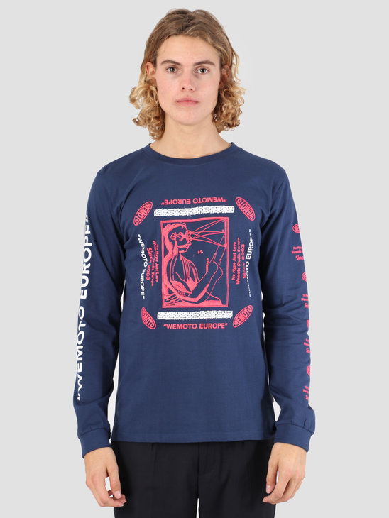 Wemoto Land Longsleeve T-Shirt Navy Blue 131.121-400