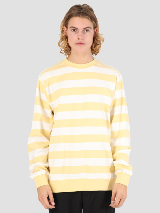 Wemoto Crew Stripe Sweater Tender Yellow 131.403-714