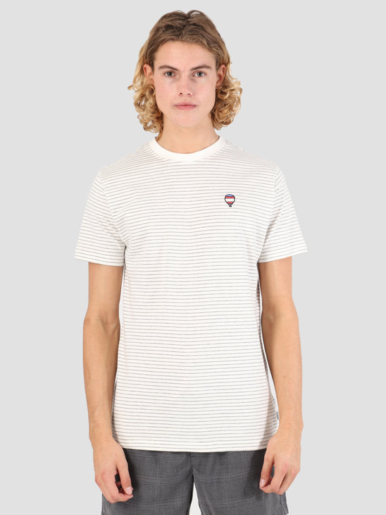 Wemoto Travel Striped Jersey Off White-Heather 131.231-213