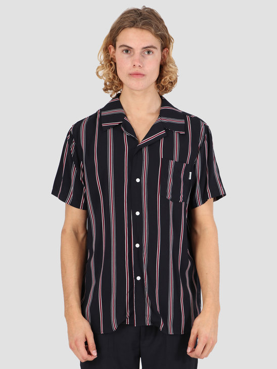 Wemoto Soul Shirt Dark Navy-Burgundy 131.315-441