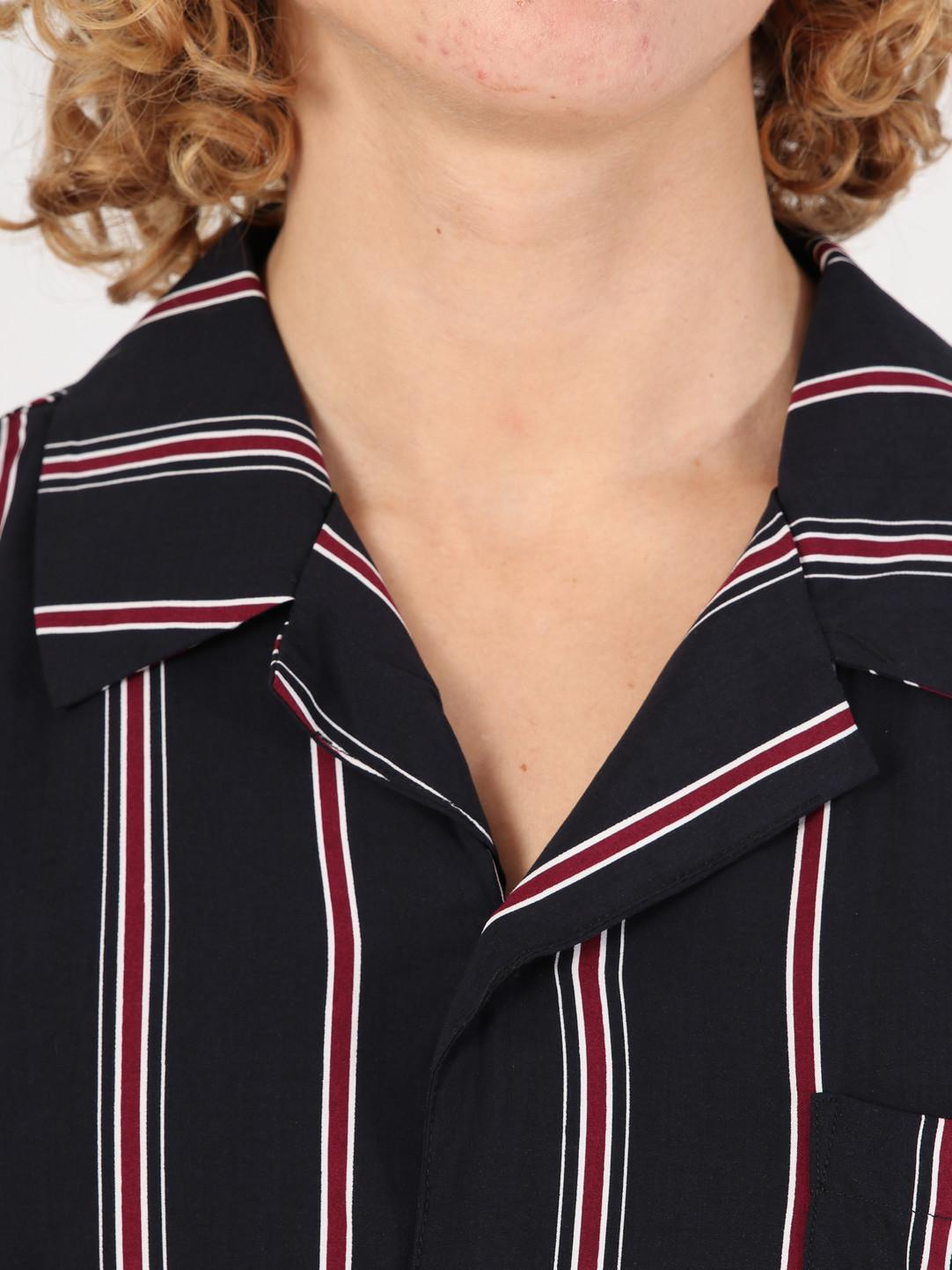 Wemoto Wemoto Soul Shirt Dark Navy-Burgundy 131.315-441