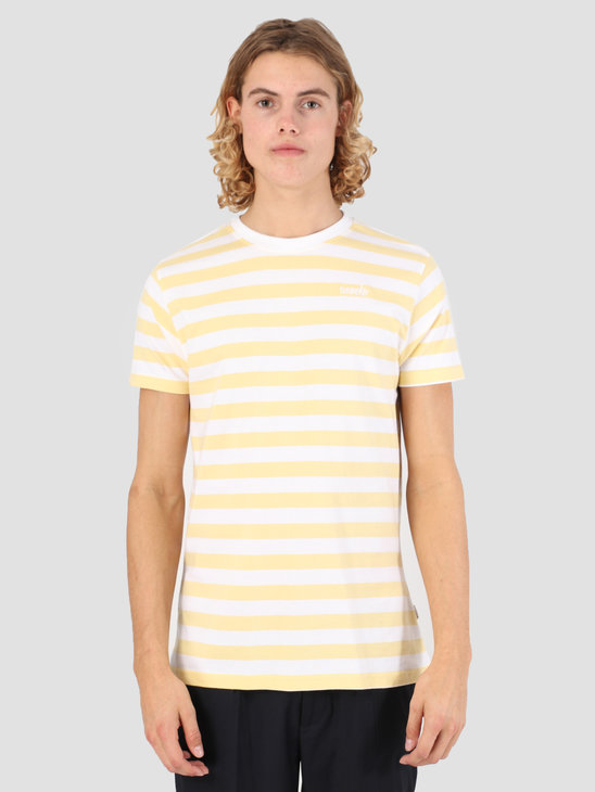 Wemoto Script Stripe Jersey Tender Yellow-White 131.223-715
