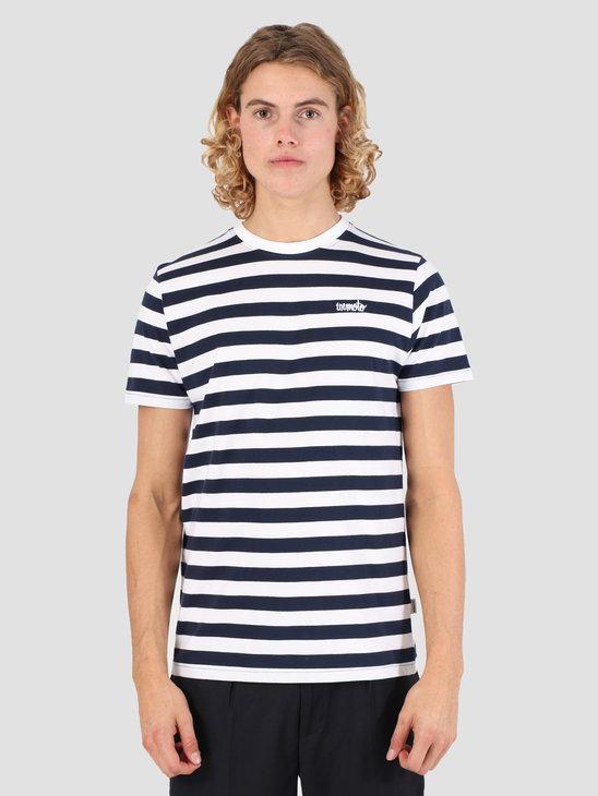 Wemoto Script Stripe Jersey Navy Blue-White 131.223-466
