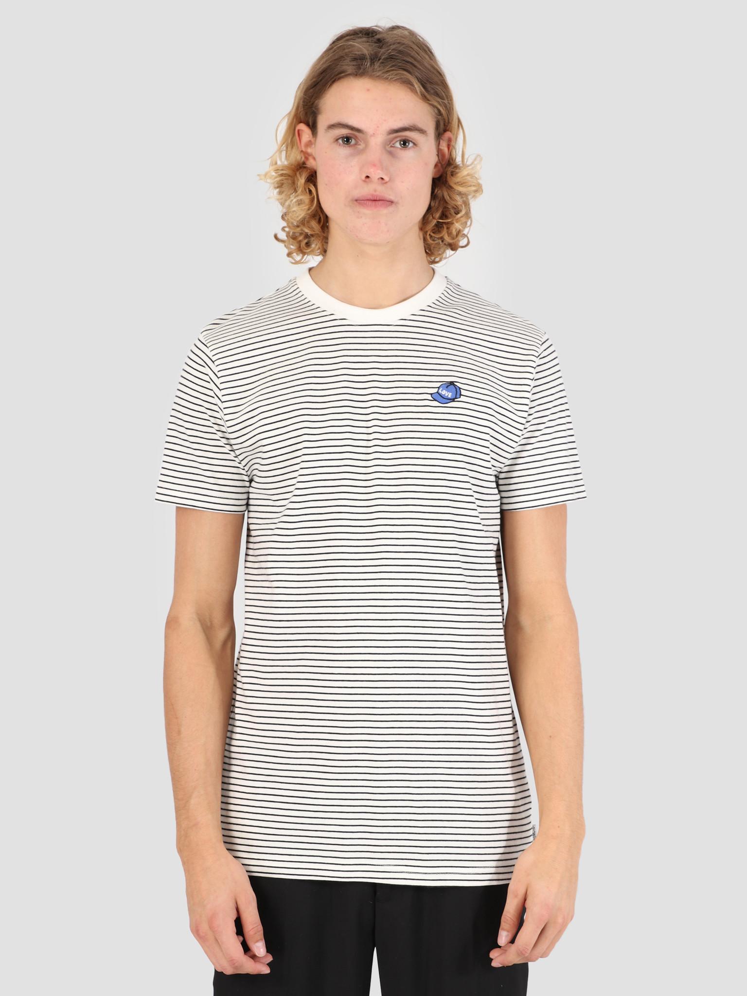 Wemoto Wemoto Hat Striped Jersey Off White-Black 131.225-203