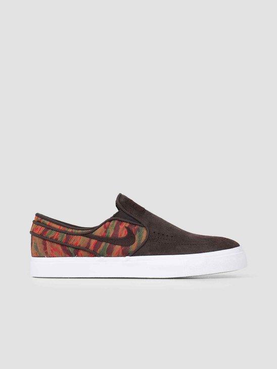 Nike Sb Zoom Stefan Janoski Slip Premium Skateboarding Velvet Brown 833582-200