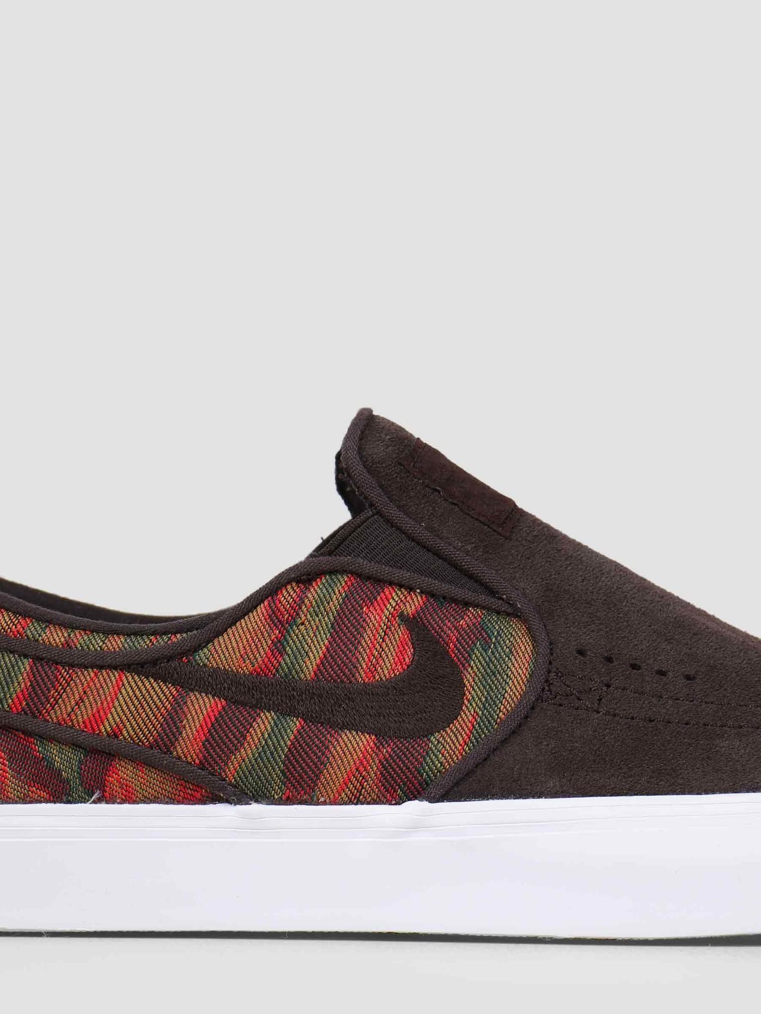 save off 29dff 3a7ff Nike Nike Sb Zoom Stefan Janoski Slip Premium Skateboarding Velvet Brown  833582-200