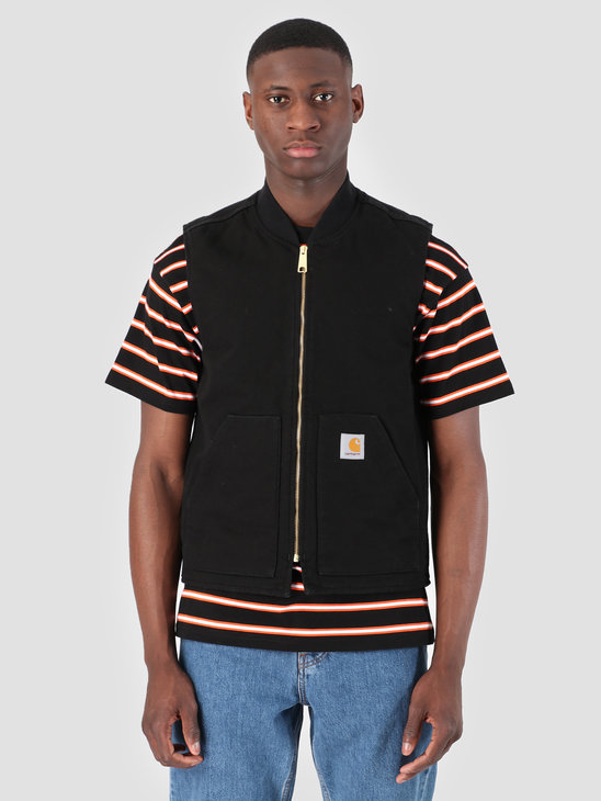 Carhartt WIP Classic Vest Rinsed Black I026457