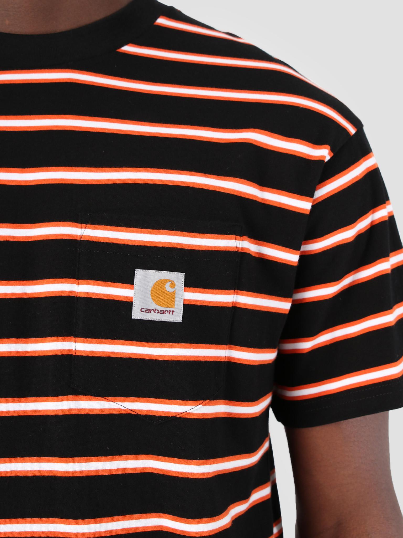 Carhartt WIP Carhartt WIP Houston Pocket T-Shirt Stripe Houston Stripe, Black I026370