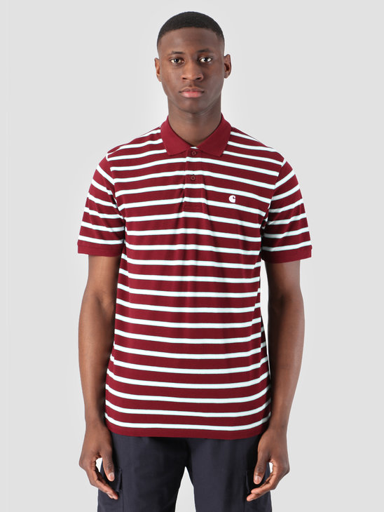 Carhartt WIP Houston Polo Houston Stripe Cranberry I026245