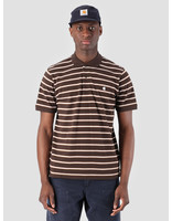 Carhartt WIP Carhartt WIP Houston Polo Houston Stripe Tobacco I026245