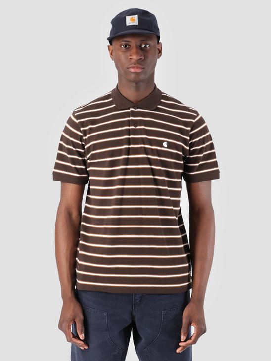 Carhartt WIP Houston Polo Houston Stripe Tobacco I026245