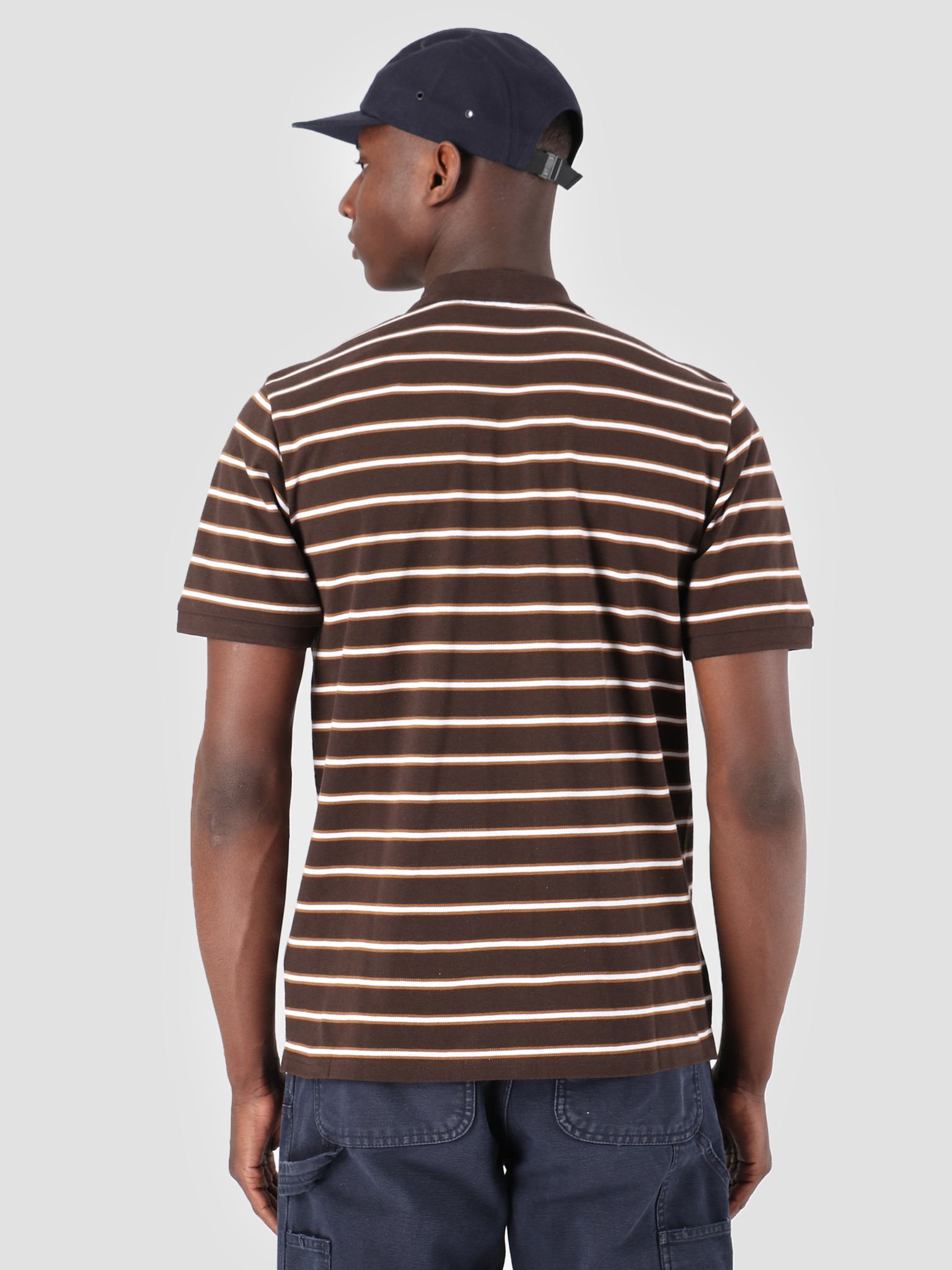 c76e6579 Carhartt WIP Carhartt WIP Houston Polo Houston Stripe Tobacco I026245