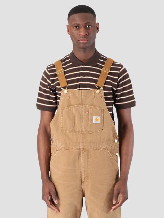 Carhartt WIP Bib Overall Aged Canvas Hamilton Brown I026462