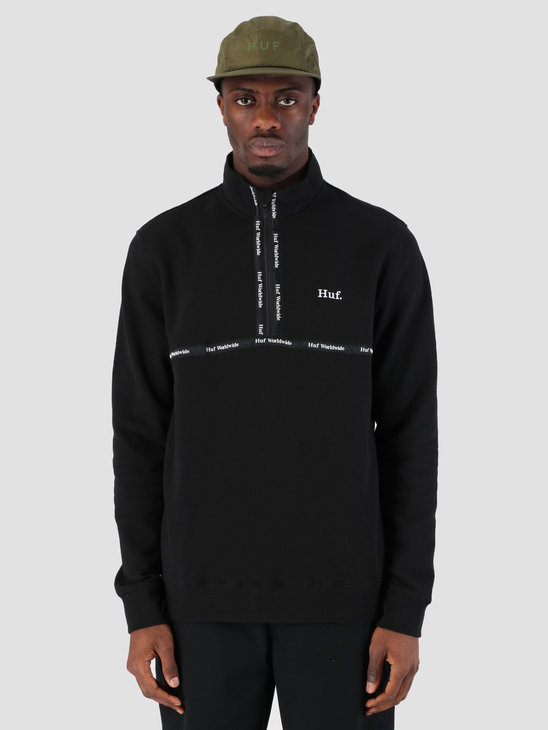 HUF Midtown 1/2 Zip Fleece Black FL00077