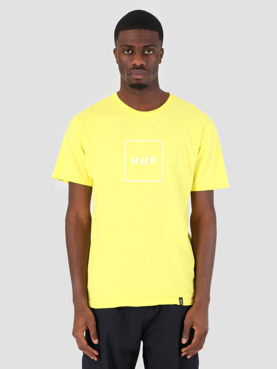 HUF Essentials Box Logo T-Shirt Aurora Yellow TS00507