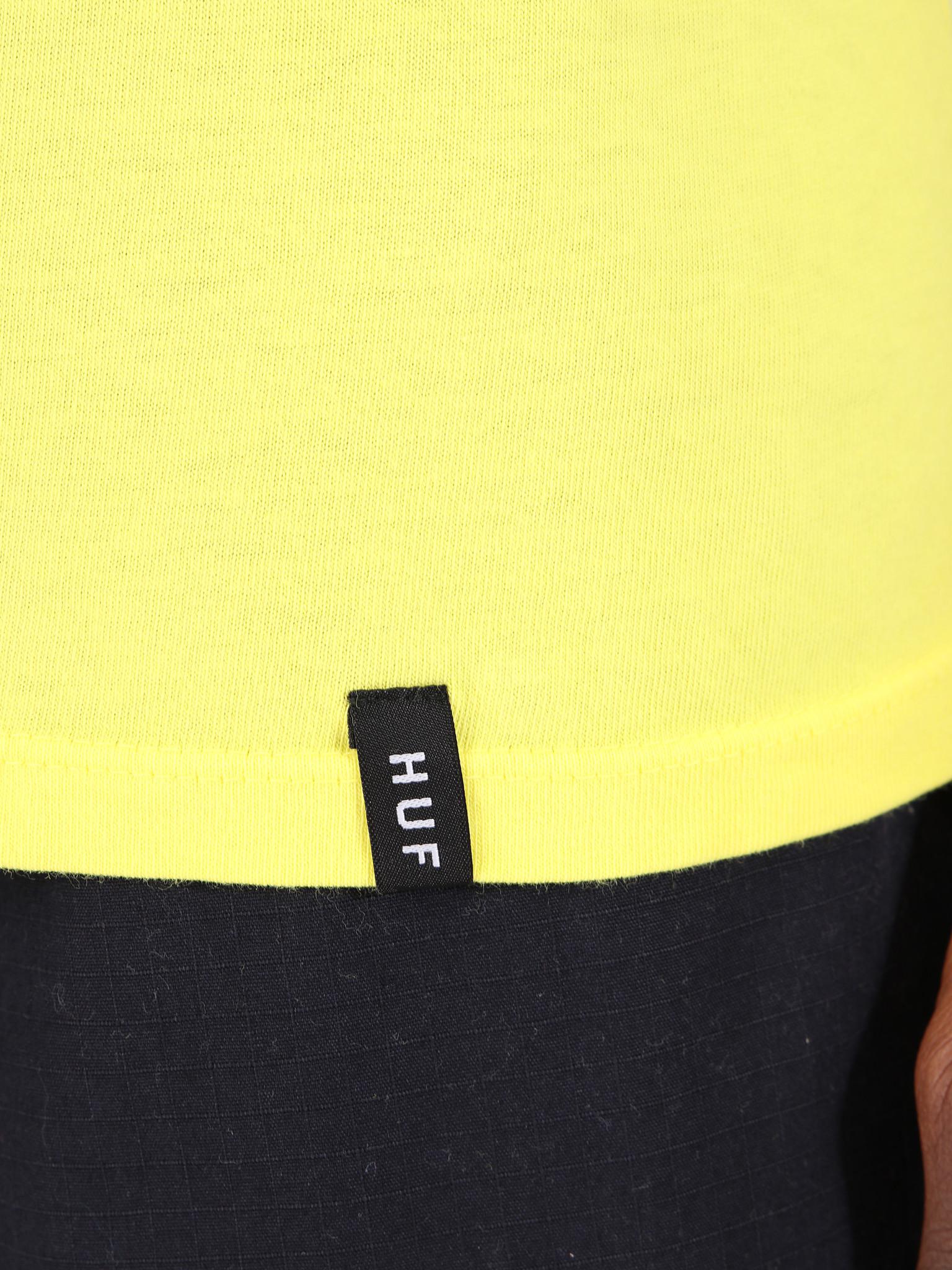 HUF HUF Essentials Box Logo T-Shirt Aurora Yellow TS00507