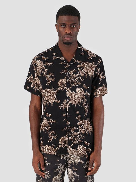 HUF Highline Woven Shirt Black BU00043