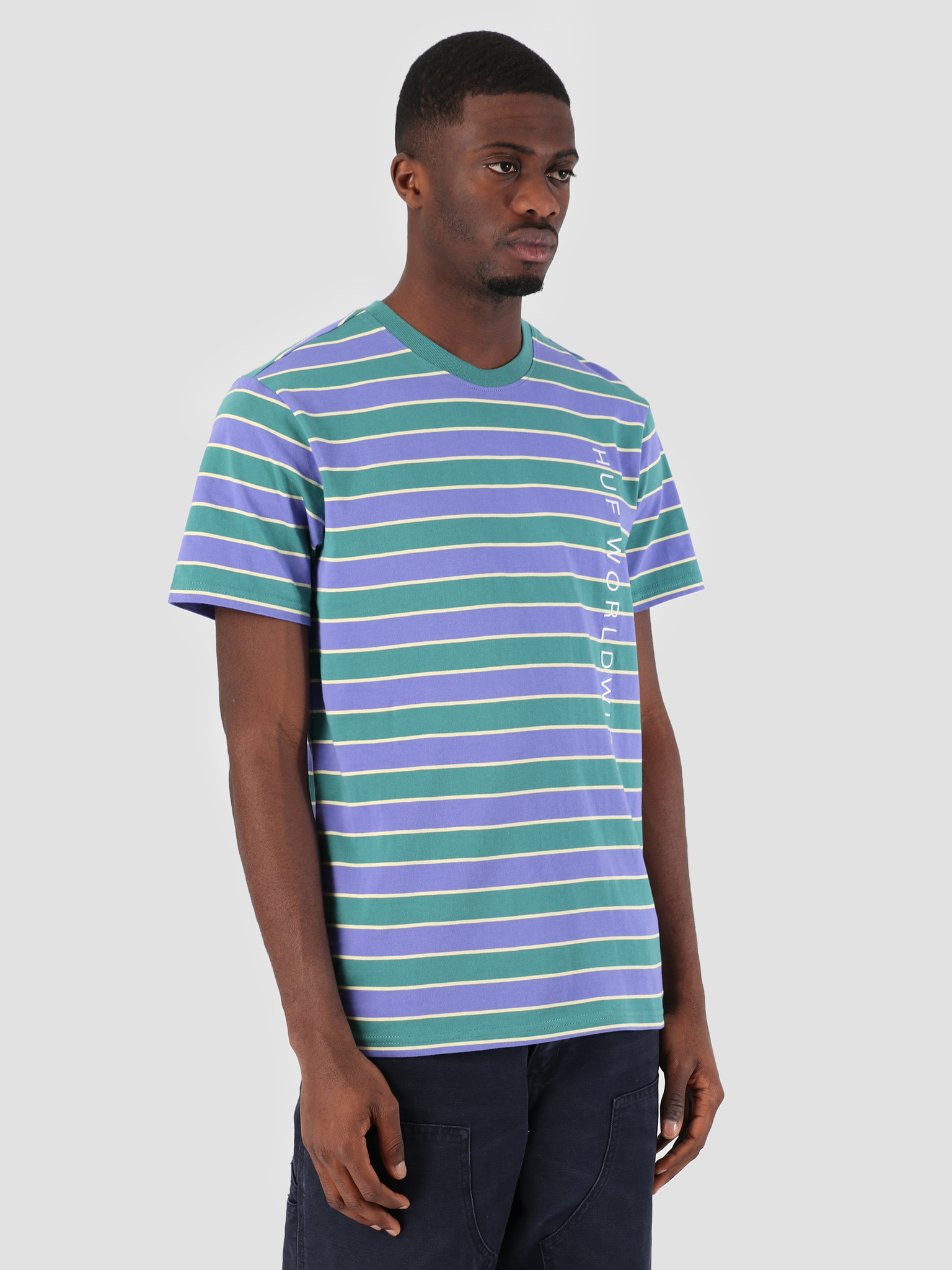 HUF HUF Lexington Knit T-Shirt Blue Iris KN00087