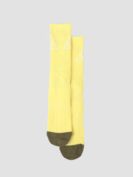 HUF Triple Triangle Sock Aurora Yellow SK00324