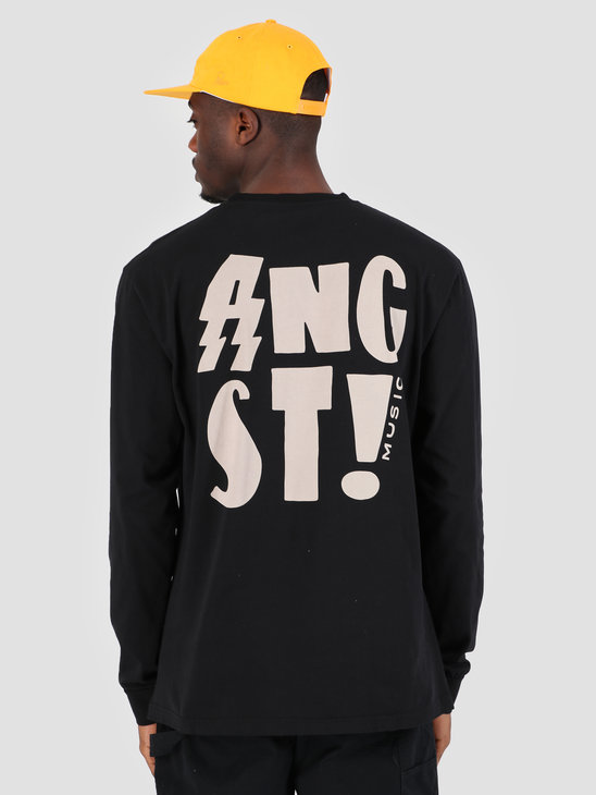 By Parra Longsleeve T-Shirt Angst Music Black 42260