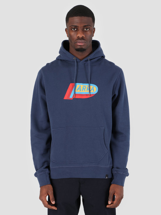 By Parra Hooded Sweater Garage Oil Navy Blue 42300