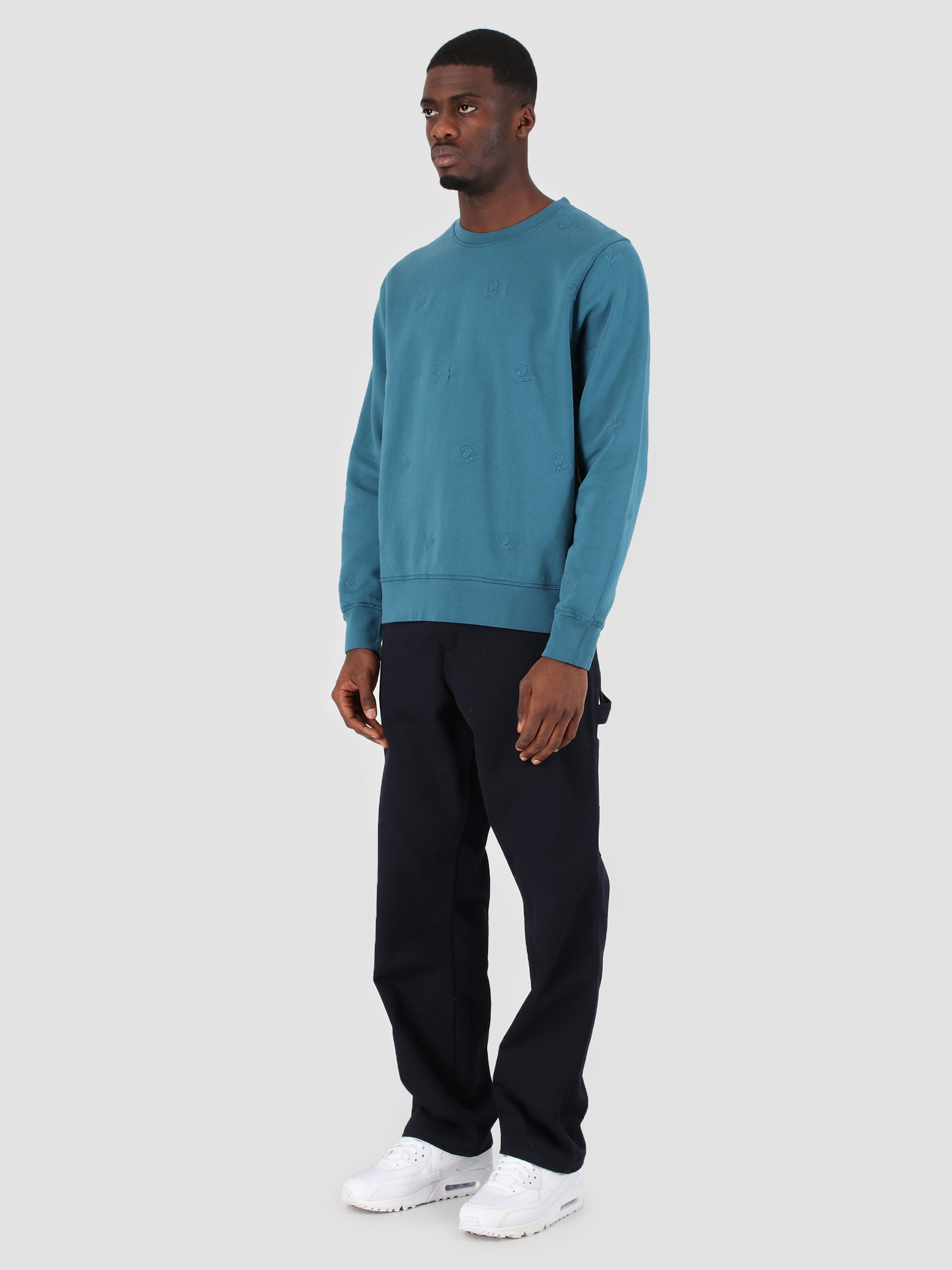 By Parra By Parra Crew Neck Signature Allover Overdyed Mall 42275