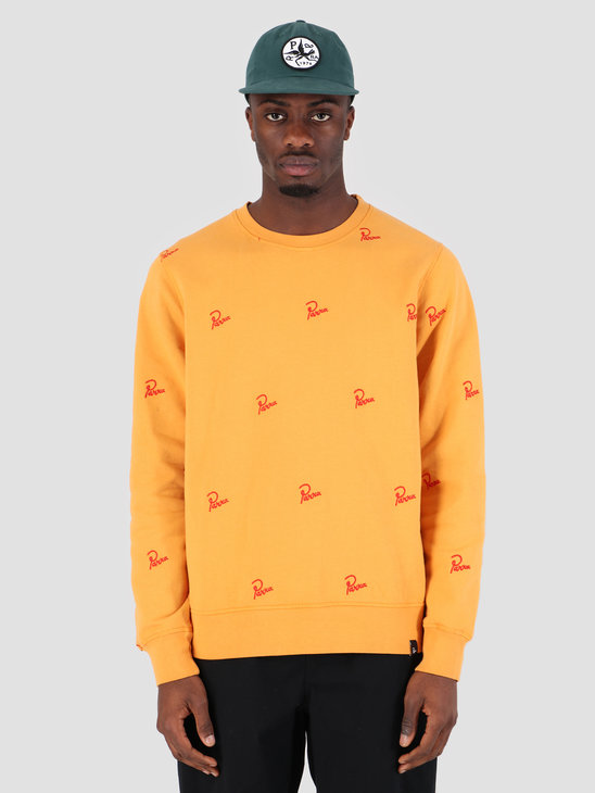 By Parra Crew Neck Signature Allover Overdyed Gold 42270