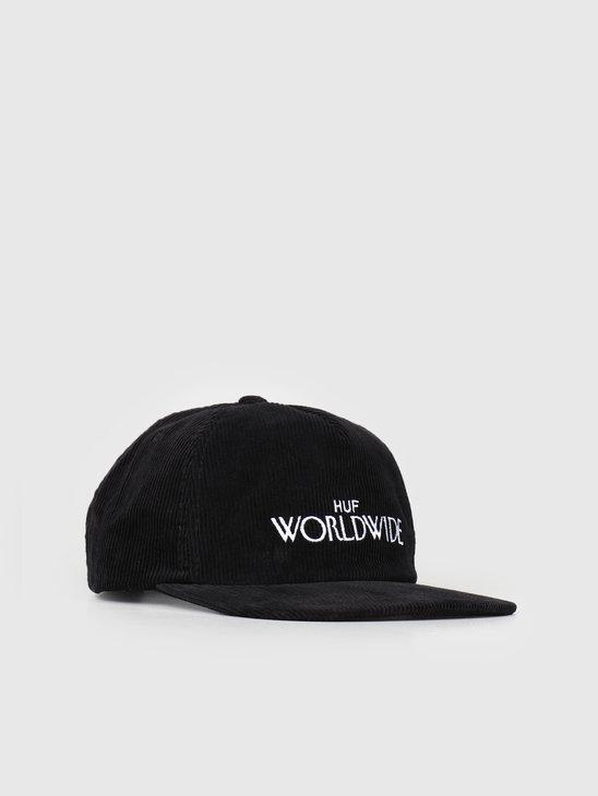 HUF Archive Strapback Hat Black HT00319