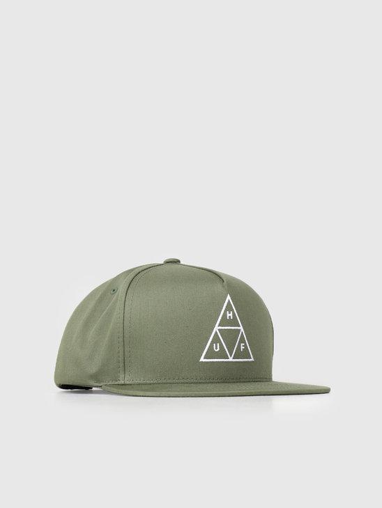 HUF Essentials TT Snapback Hat Loden HT00344