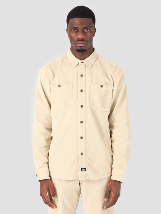 Dickies Bayville Longsleeve Shirt Oyster Gray 05 200345-OYO