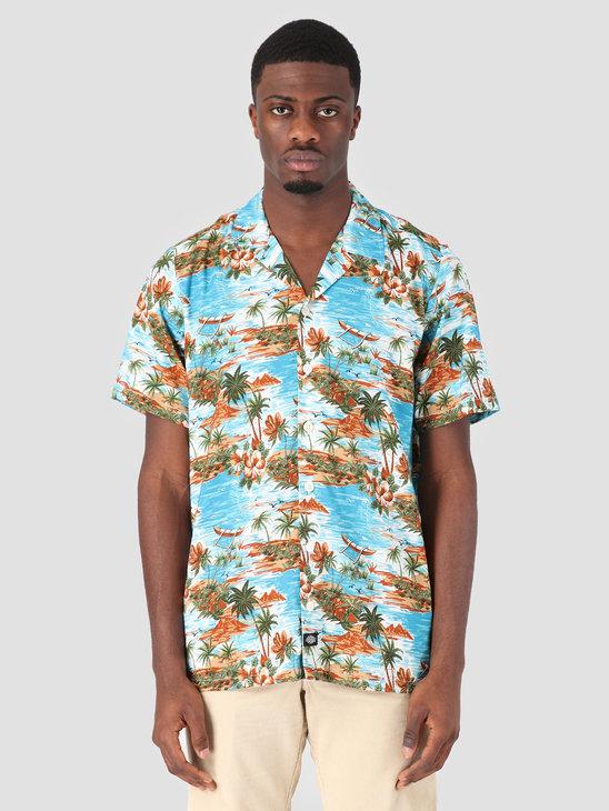 Dickies Blossvale Shortsleeve Shirt Ocean 05 200344-OC