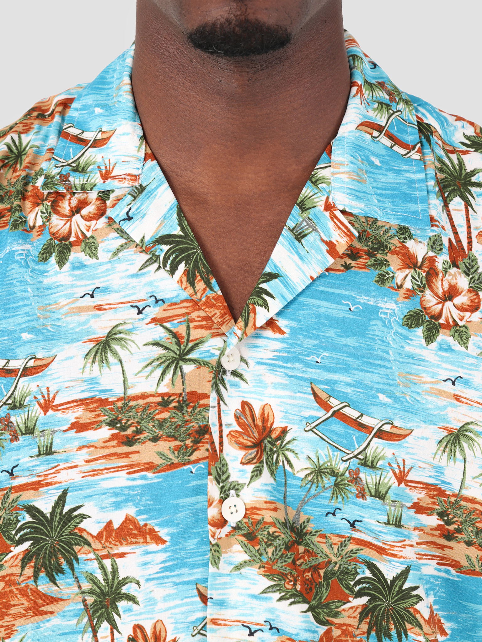 Dickies Dickies Blossvale Shortsleeve Shirt Ocean 05 200344-OC