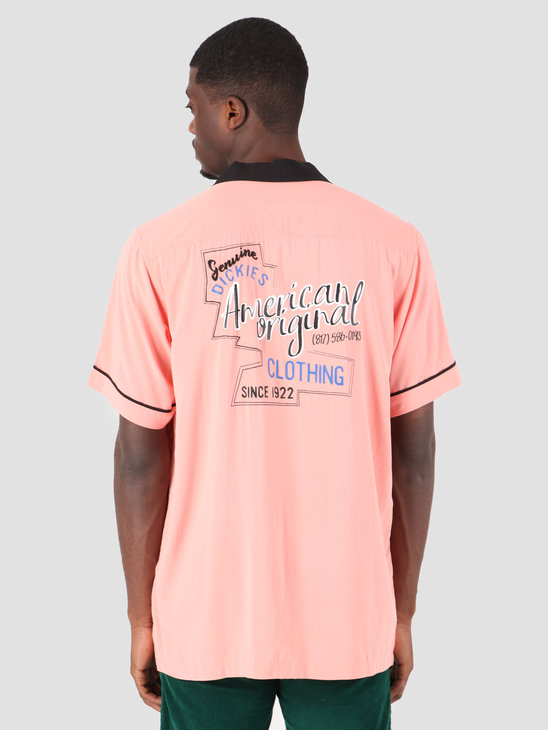 Dickies Wevertown Longsleeve Shirt Flamingo 05 200341-FLA