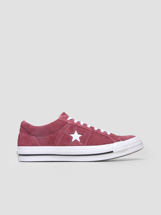 Converse One Star OX Deep Bordeaux White White 158370C