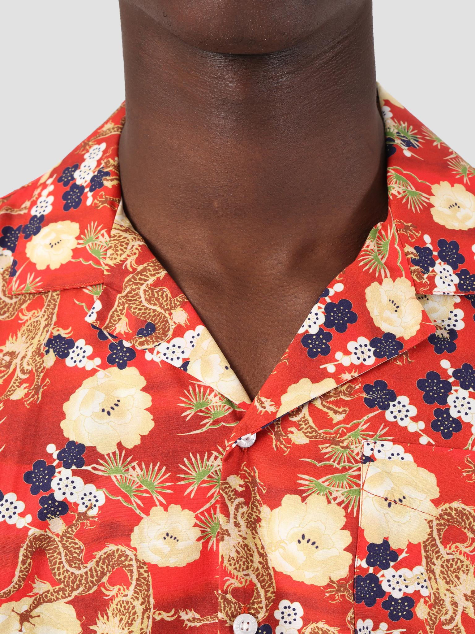 Libertine Libertine Libertine Libertine Cave Shortsleeve Shirt Red Dragon 1671